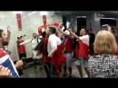 Чилийские болельщики после победы на матче (Кубок Конфедераций)