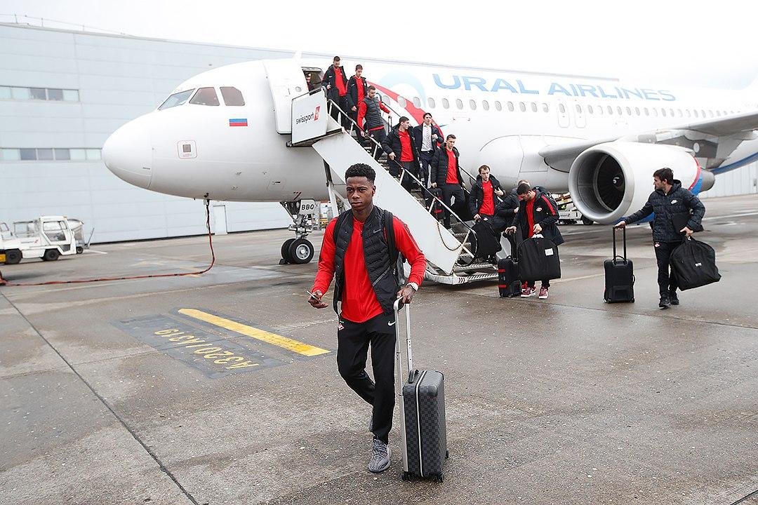 «Спартак» прибыл в Ливерпуль