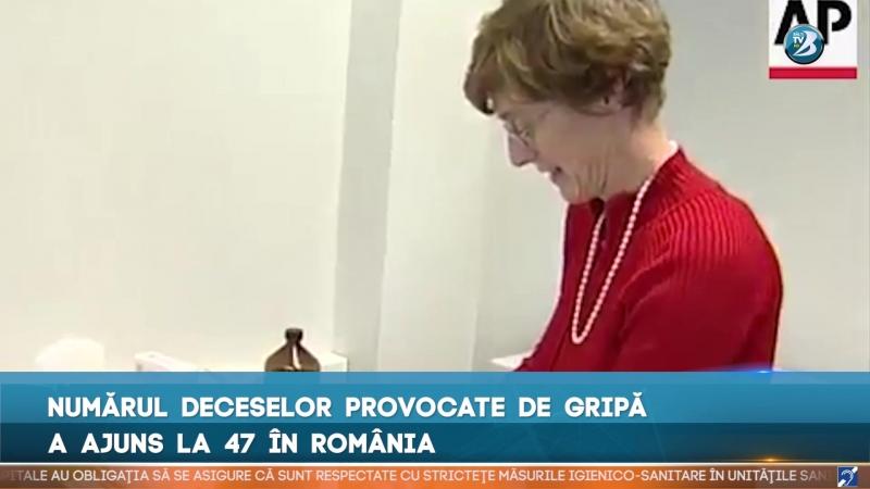NUMĂRUL DECESELOR PROVOCATE DE GRIPĂ A AJUNS LA 47 ÎN ROMÂNIA