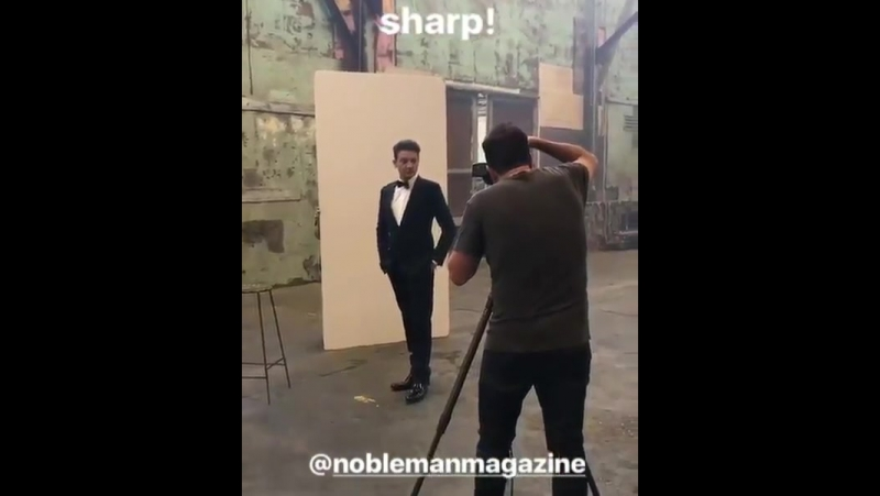 Behind the scenes of Jeremy Renner's Photoshoot for NobleMan magazine
