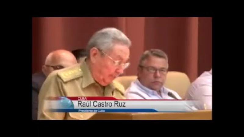 Clausura presidente cubano sesión plenaria del parlamento