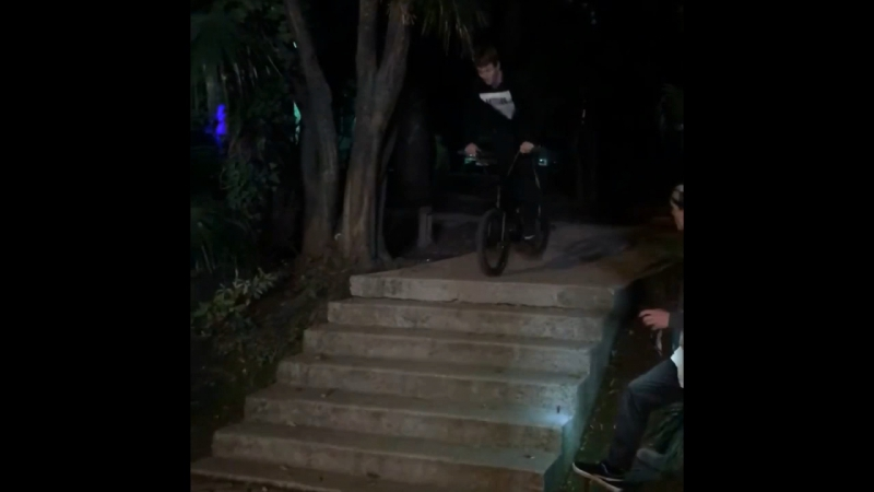 Nollie bar in stairs