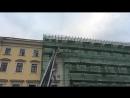 Стрим с обрушения строительных лесов на реставрируемом объекте на улице Итальянской,11.