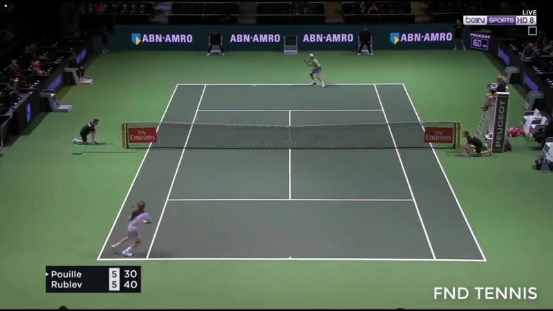 Теннис ATP Роттердам Хард Пуйе Люка Рублев Андрей 0 2 5 7 4 6 » Мир HD Tv - Смотреть онлайн в хорощем качестве