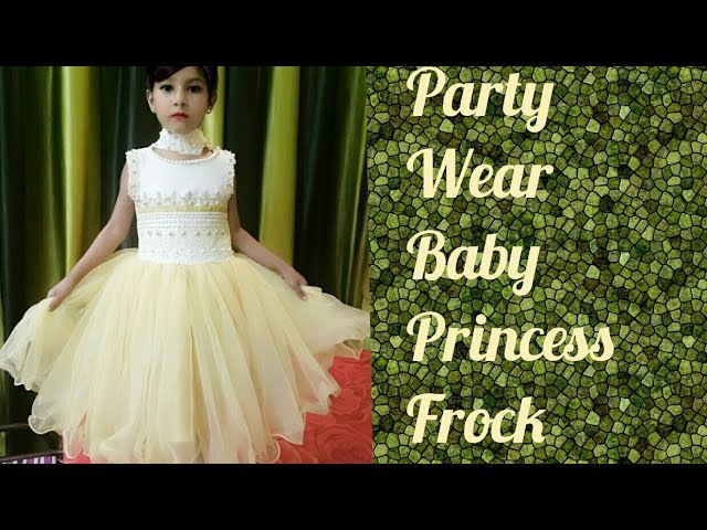 Baby princes frock cutting and stitching...and decoration...