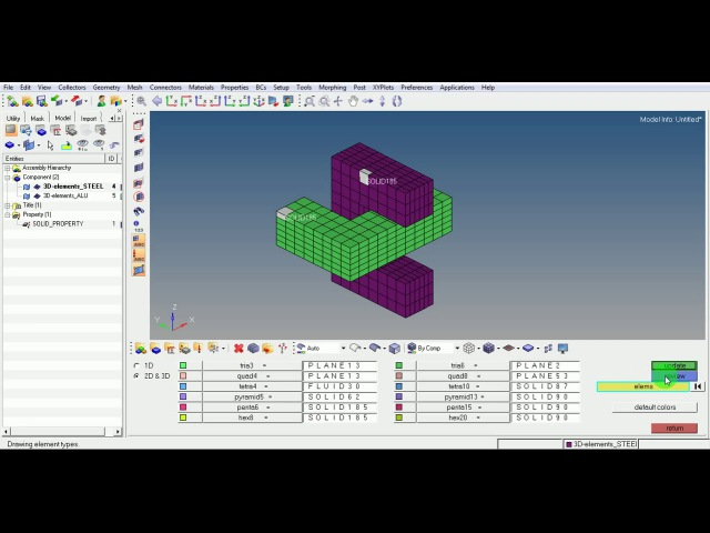 Hypermesh ANSYS Tutorial Video Beginner Expert Contact Non Linear FE Analysis GRS