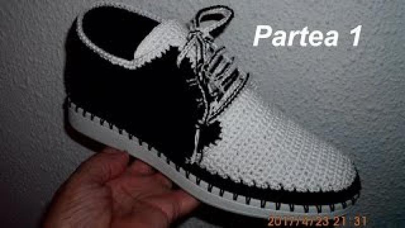 Pantofi crosetati de barbati - Partea I