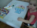 Развивающие занятие для детей от 1 до 2 лет. Раскраски для малышей от года.