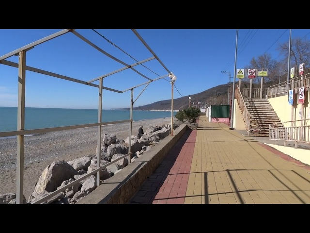 Март! Девчачий месяц... Пляж Дельфин в Лазаревском. Море, погода 6 марта 2018