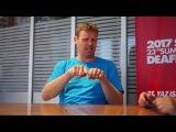 Интервью с Михой Жупан, глухим словенским баскетболистом. Сурдлимпиада 2017. Самсун. На жестовом языке с субтитрами