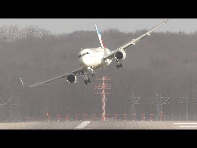 UNBELIEVABLE CROSSWIND LANDINGS during a STORM with 20 ABORTED LANDINGS - GO AROUND !!