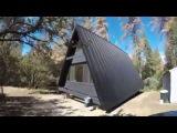 (Yosemite,CA) -Tour Of Amazing Aframe Cabin -