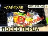 Самый простой ПОСЕВ ПЕРЦА и баклажанов + лайфхак