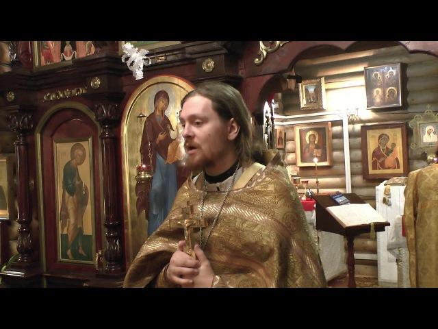 Проповедь иерея Глеба Киселёва о Закхее, в Неделю 33-ю по Пятидесятнице, по Богоявлении, 21 января 2018 г.