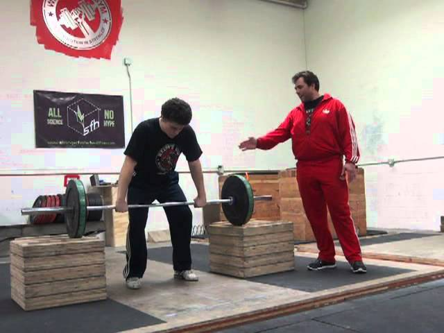 Power Clean from Blocks Above the Knee