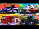 Мультики про Машинки Полицейская Машина Пожарная Скорая Монстр Трак Мойка Игры для детей