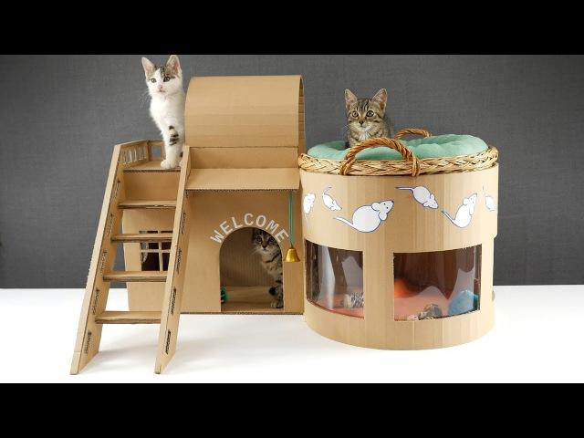 Домик для кошки своими руками фото из картона своими руками 23