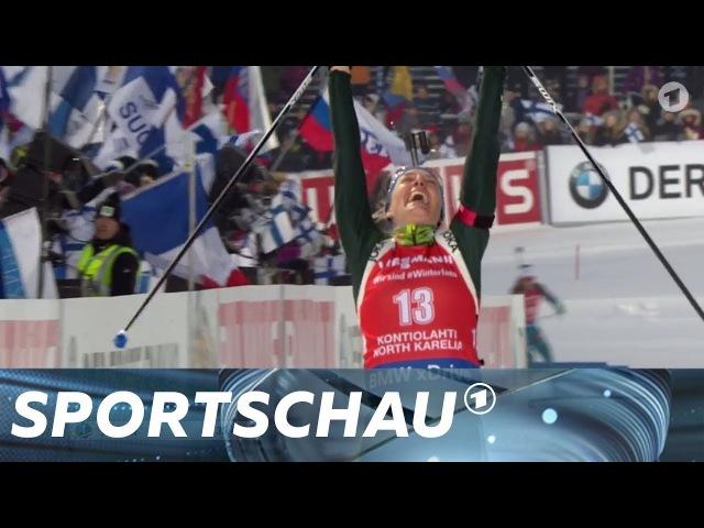 Biathlon Vanessa Hinz holt ihren ersten Weltcupsieg | Sportschau