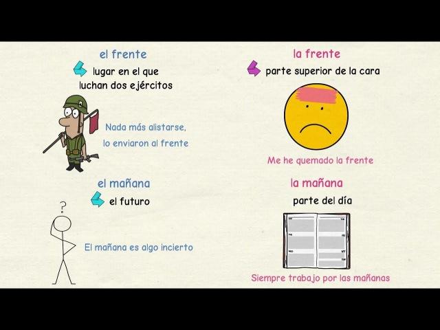 Aprender español: Palabras con dos géneros y significados distintos (nivel avanzado)