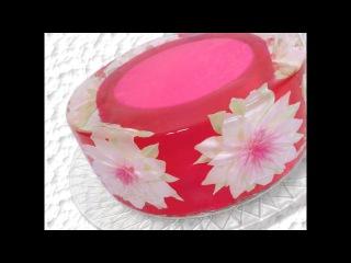 ( https://vk.com/lakomkavk) How to make a Gelatin Art 3D Gelatin flower cake with background