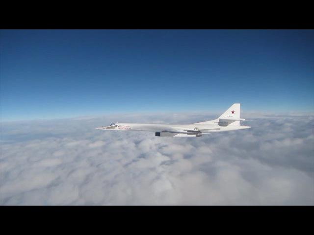 Российские Ту-160 над Северным морем. Кадры Минобороны Великобритании