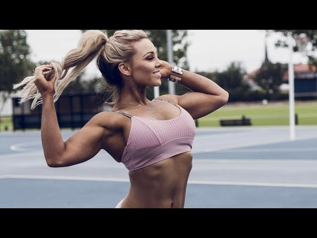 Sexy Fitness Model Super Hot Strong Babe