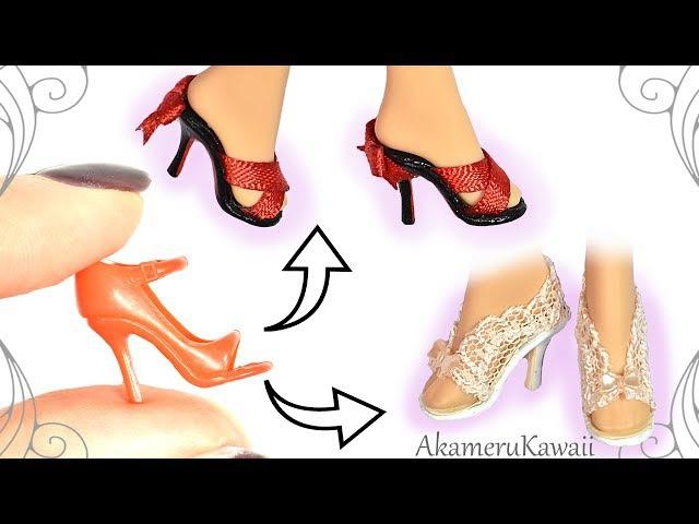 How to Easy Barbie Doll Shoes Summer Mini Shoes Tutorial смотреть онлайн без регистрации