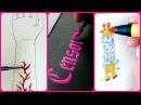 Каллиграфия и Водная Композиция Рисования! Смотри не залипни! | Учимся рисовать: водное рисование