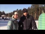 Юлия и Павел первый раз на Сноуборде
