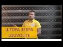 Рулонные шторы Зебра, в декоративном коробе Луволайт Louvolite. АкадемияЖалюзи