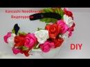 DIY Ободок с Розами из лент в стиле Канзаши. Мастер-класс ободок для фотосесии. Весенний ободок.