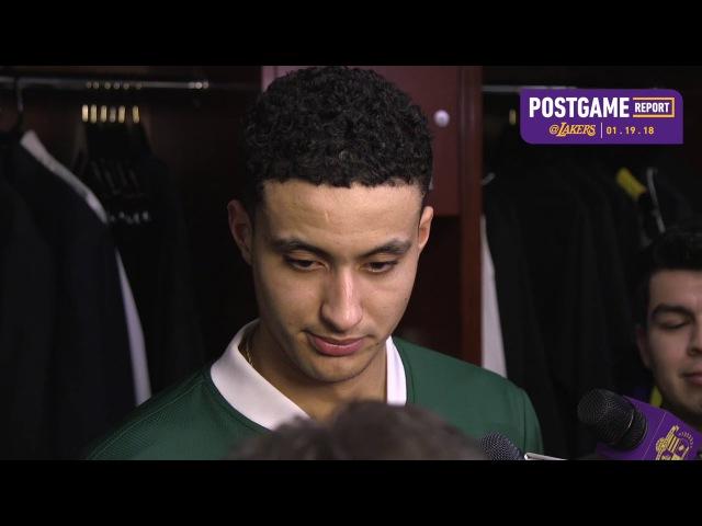 Kyle Kuzma Postgame Interview | Pacers vs Lakers | January 19, 2018 | 2017-18 NBA Season