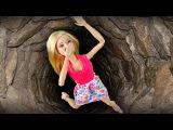 Барби упала в Страшный Колодец и плачет. Мультик Маша и Медведь Мама Барби и Кен