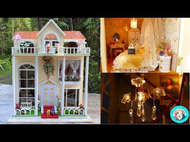 💗 DIY Miniature Sweet Home Dollhouse With LED Lights ミニチュアドールハウス 소형 인형의 집♥