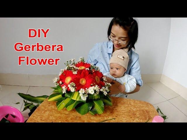 Cắm hoa tập 4 Lẳng HOA ĐỒNG TIỀN giá chỉ 50k Flowers Gerbera DIY
