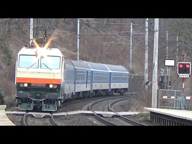 Vlaky Roztoky-Žalov 13.1.2018