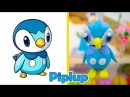 Learn Colors With Play Doh Modelling Clay Piplup and TooHee Molds Surprise Toys for Kids