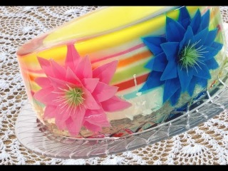 ( https://vk.com/lakomkavk) 3-Д ЖЕЛЕ для декора торта. How To Make A Gelatin Art Cake