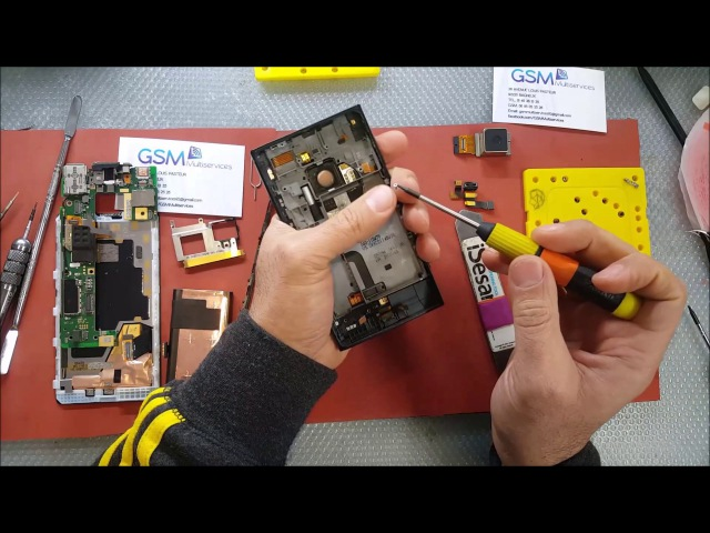 Nokia Lumia 1020 disassembly and Micro USB charging Port Replacement
