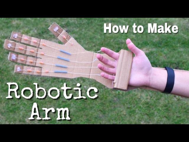 Самодельная робо-рука из картона