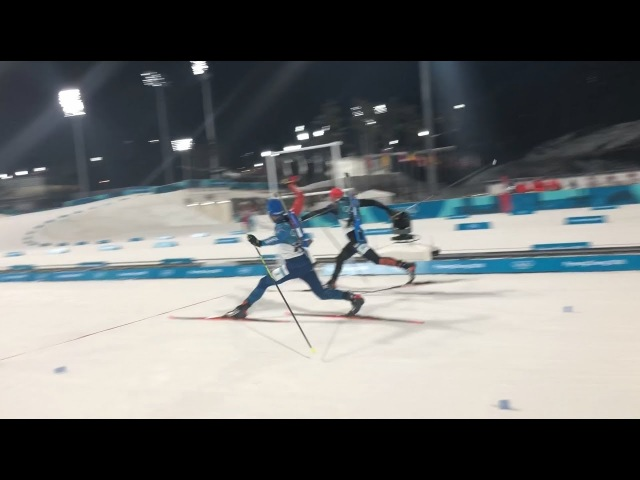 2018 PyeongChang OWGs Biathlon Mass start photo finish