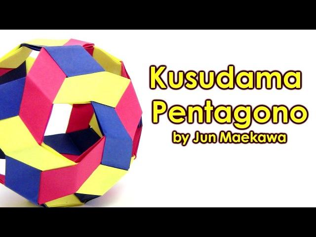 Origami Kusudama Pentagono by Jun Maekawa - Yakomoga Origami tutorial