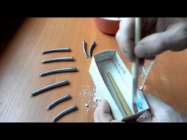 Самодельное грузило для оснастки дроп-шот