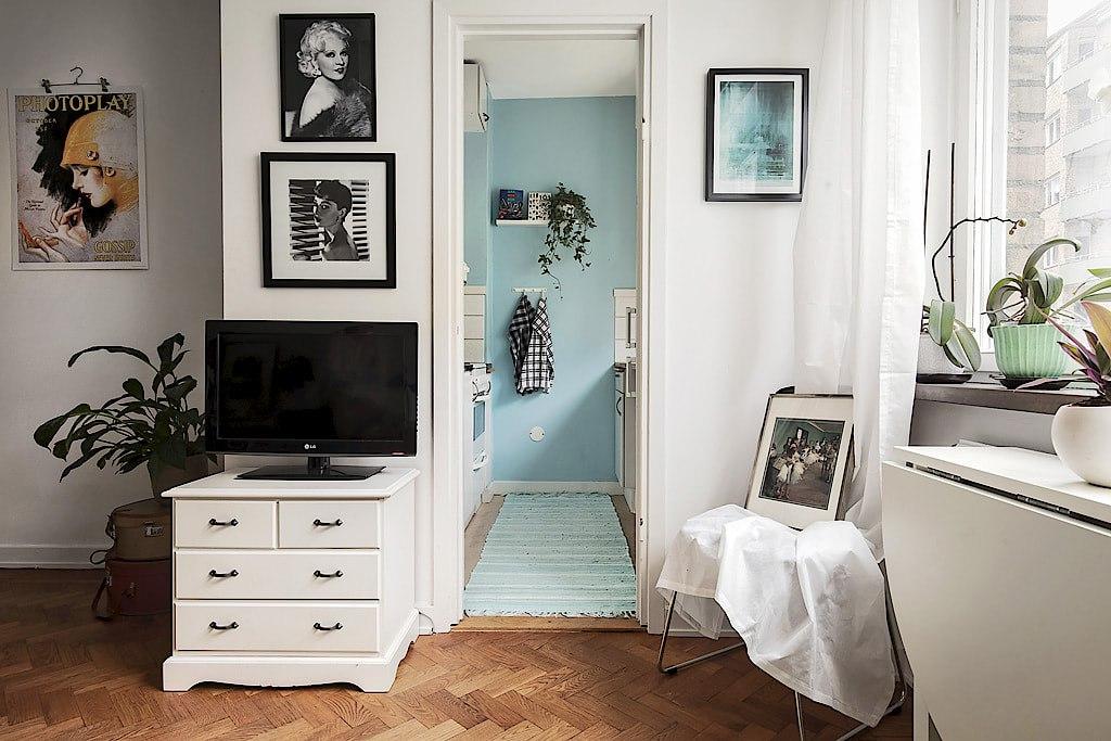 Интерьер шведской квартиры 28 м.