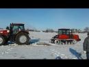 Гусеничный Беларусь МТЗ против колёсного трактора МТЗ