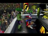 Халк и Красный Халк (с) против Капитана Америки, Железного Человека и Тора