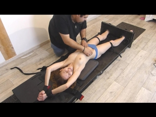 FrenchTickling - Loues Topless Punishment In The Stocks