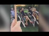 Sia at Sarah Hudsons wedding.