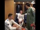 Радостное видео из раздевалки «Реала», в которой Роналду сиял от счастья и миллион раз дал пять!