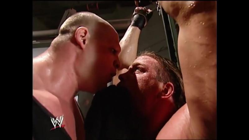 Kane Almost Sets Rob Van Dam On Fire Raw (08.18.2003)